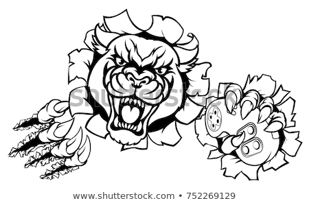 Stock photo: Black Panther Gamer Player Mascot