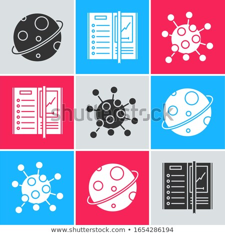 set space planets and stars on a white background vector illust stock photo © popaukropa