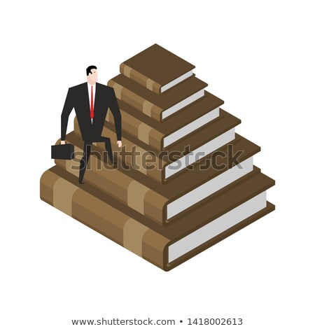 Pyramide livres connaissances formation illustration escaliers Photo stock © MaryValery