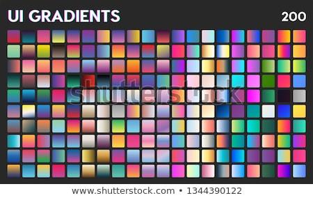 Trendi gradiens gyűjtemény mobil app üzlet Stock fotó © FoxysGraphic