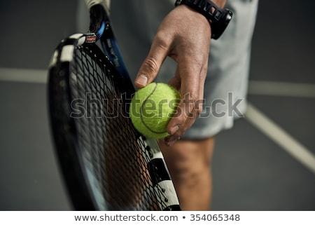 Közelkép kezek férfi profi játékos tart Stock fotó © Kzenon