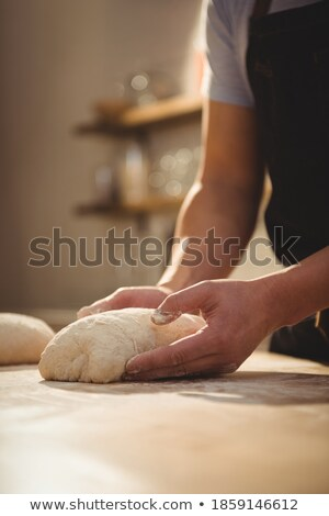 Személyzet dolgozik pékség pult piac üzlet Stock fotó © wavebreak_media