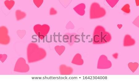 Szczęśliwy walentynki ilustracja serca czerwony wektora Zdjęcia stock © articular
