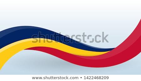Румыния флаг изолированный современных тень Мир Сток-фото © kyryloff