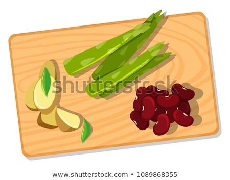 Stock fotó: Zöldség · vágódeszka · illusztráció · háttér · kés · főzés