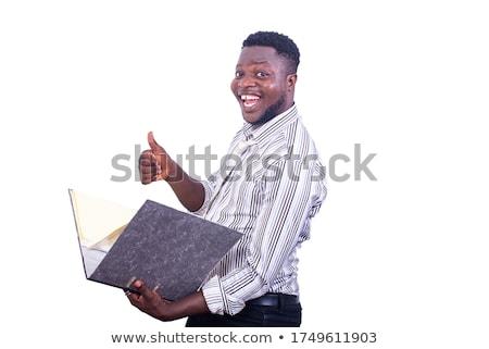 folderze · plików · odizolowany · biały · papieru · Internetu - zdjęcia stock © feedough