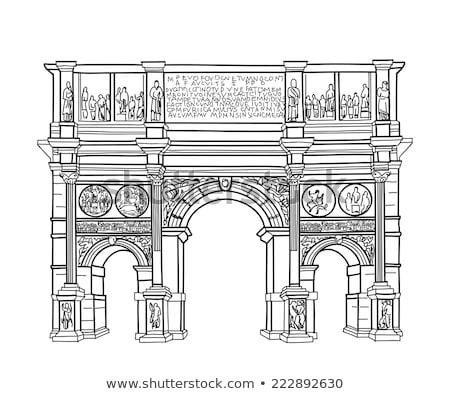 путешествия знак Рим известный здании арки Сток-фото © Terriana