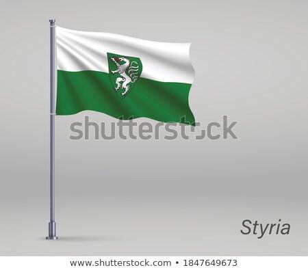 Steiermark or Styria state flag in Austria Stock photo © speedfighter