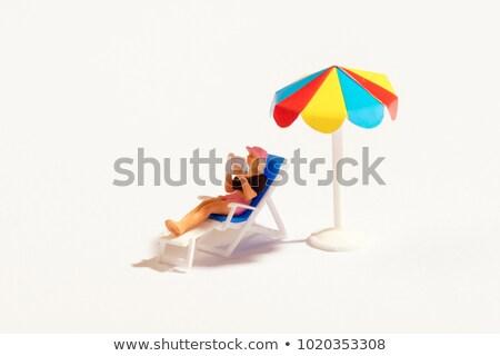 Miniatura spiaggia asciugamani sabbia abstract mare Foto d'archivio © unikpix