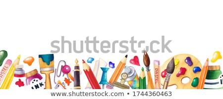 Design colorato matita pennello altro Foto d'archivio © articular