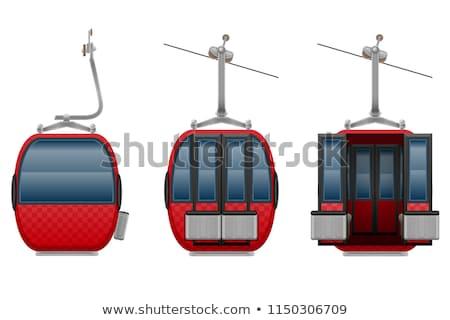 cabin ski cableway vector illustration Stok fotoğraf © konturvid