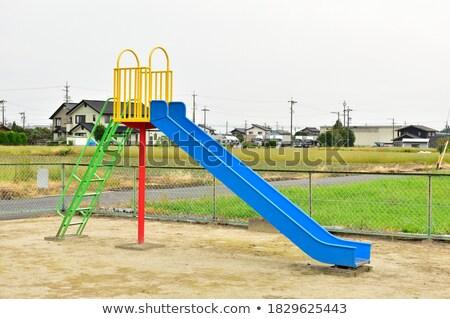 赤 遊び場 スライド 空っぽ 木材 夏 ストックフォト © hamik