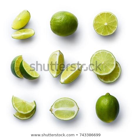 limon · yeşil · yaprak · yalıtılmış · beyaz - stok fotoğraf © ungpaoman