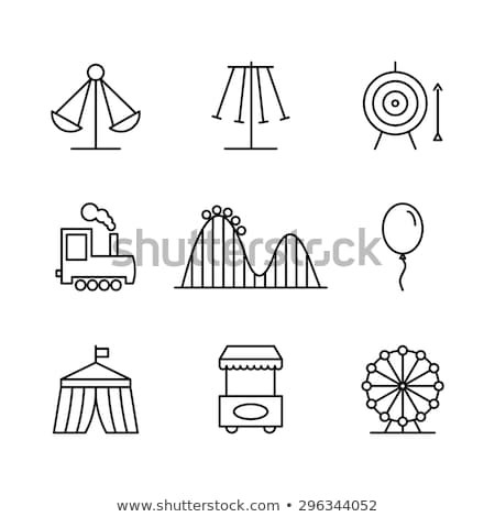 Amusement park - thin line design style vector illustration Stock photo © Decorwithme