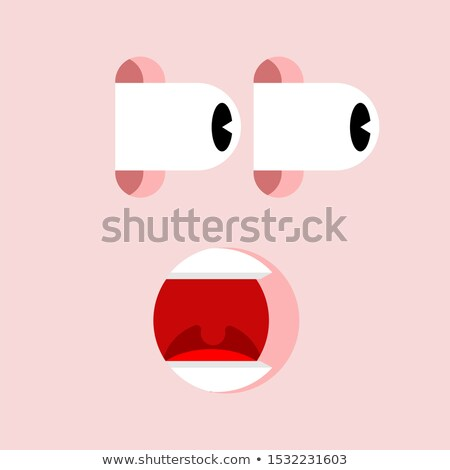 Shock face. Panic man. mental joltand fear Stock photo © MaryValery
