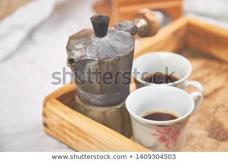 горячей · кофе · турецкий · вкусный · копия · пространства - Сток-фото © illia
