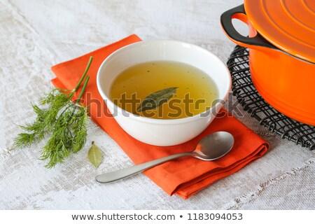 çanak sebze et suyu gıda kış yeme Stok fotoğraf © M-studio