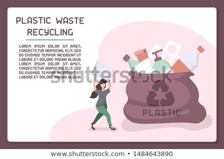 Plastic Waste Sample Color Vector Illustration Stock photo © robuart