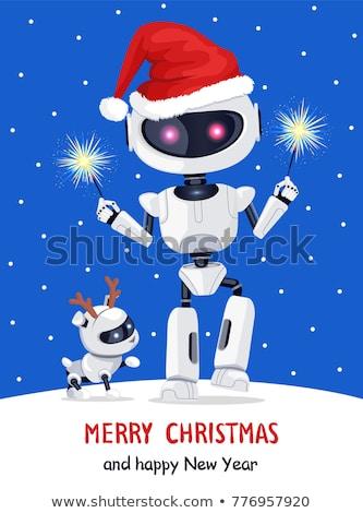 Vieren robot hond cartoon illustratie succes Stockfoto © cthoman