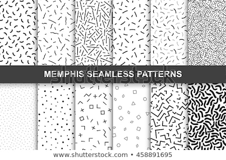 Vector abstract memphis pattern with mosaic geometric shapes - seamless. Stock photo © ExpressVectors