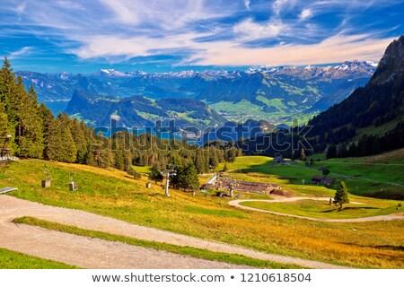paysage · montagne · lac · nature - photo stock © xbrchx