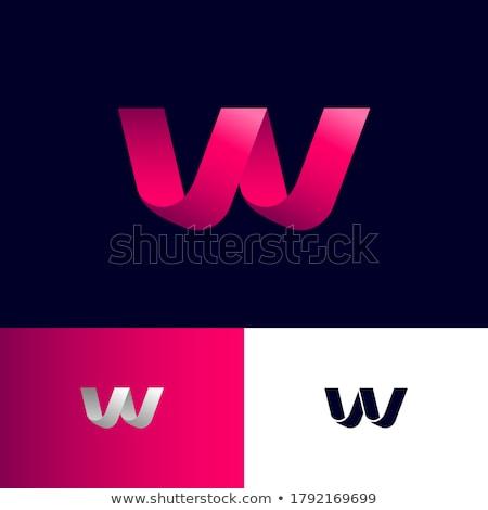 List w wstążka logo różowy ikona wektora Zdjęcia stock © blaskorizov