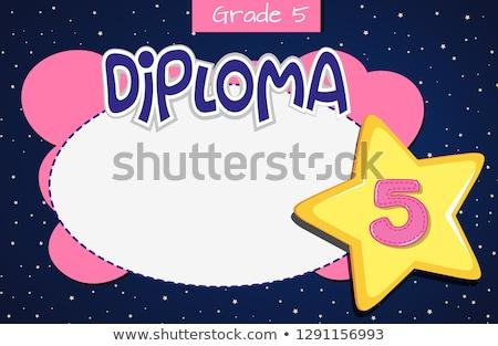 Grade five diploma certificate template Stock photo © bluering
