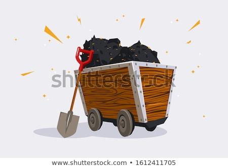 マイニング オブジェクト 木製 ワゴン 実例 背景 ストックフォト © colematt
