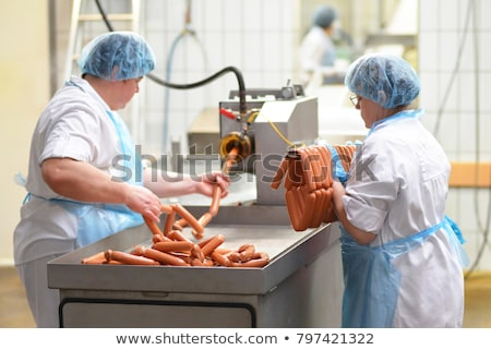 Sausage production line Stock photo © grafvision