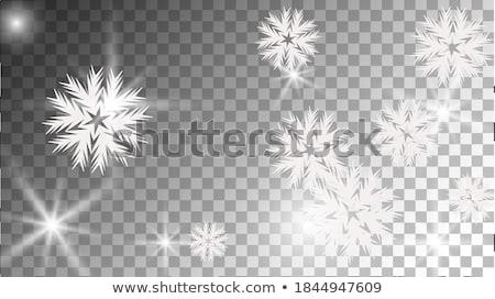Stock fotó: Snowy Rainbow Color Winter Template