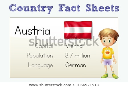 Flashcard with country fact for Austria Stock photo © colematt