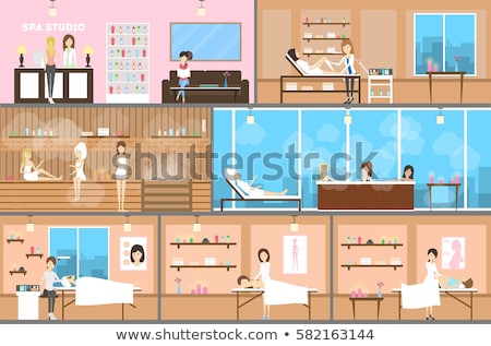 Schoonheidssalon spa centrum interieur cartoon ingesteld Stockfoto © robuart