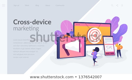 Marketing landing pagina megafoon Stockfoto © RAStudio