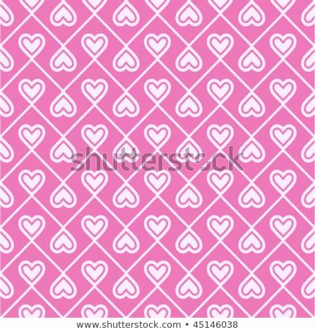soyut · kalpler · lekeli · valentine · el - stok fotoğraf © imaagio