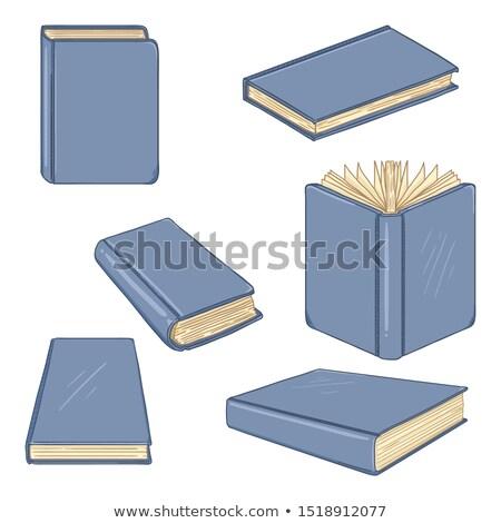 книгах библиотека набор изолированный вектора Сток-фото © robuart