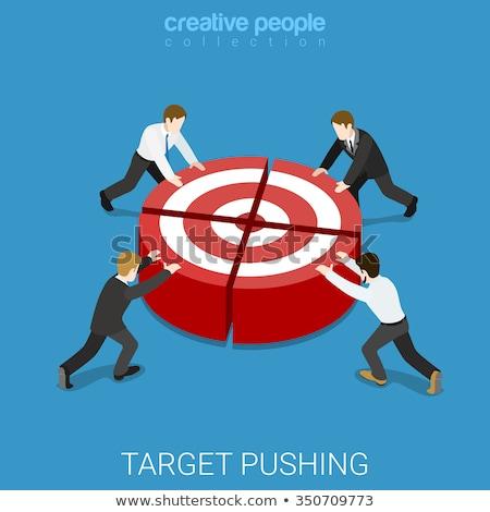 3d pessoas trabalho em equipe ilustração 3d homens palavra Foto stock © ribah