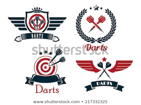 Shield Logo with star in the center. Vector illustration isolated on white background. stock photo © kyryloff