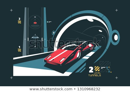 Two levels cars tunnel with map of traffic Stock photo © jossdiim