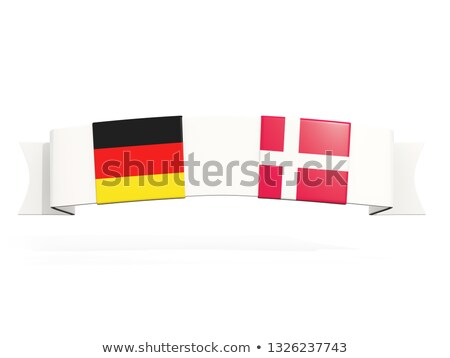 Banner with two square flags of Germany and denmark Stock photo © MikhailMishchenko