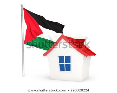 house with flag of palestinian territory stock photo © mikhailmishchenko