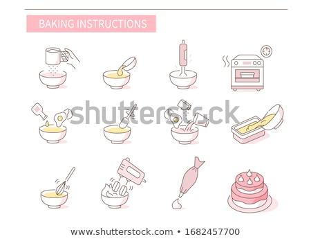 Vektor szett torta keverő étel konyha Stock fotó © olllikeballoon
