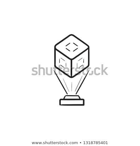 Holographic communication hand drawn outline doodle icon. Stock photo © RAStudio