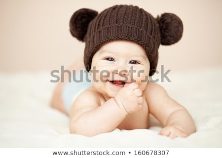 Baby Boy or Girl lying Down in the Bed Stock photo © leedsn