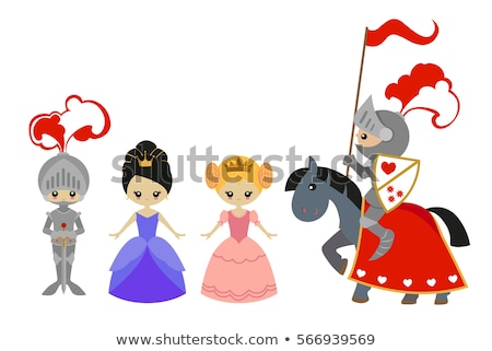 prince and princess riding a horse stock photo © bluering