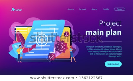 vision and scope document concept landing page stock photo © rastudio
