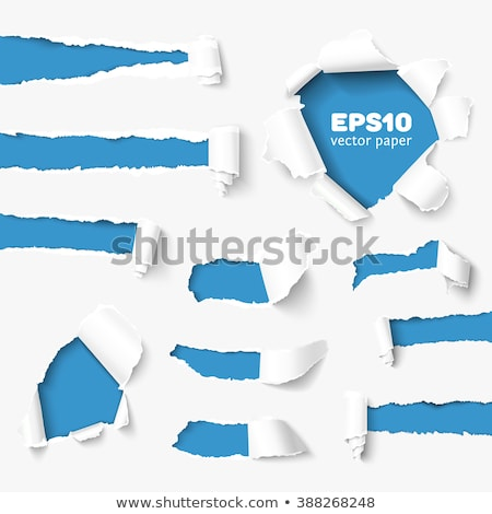 Hole Torn Paper Set Isolated background Stock photo © barbaliss