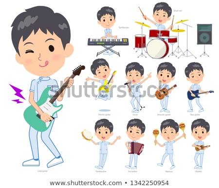 カイロプラクター 音楽 セット 男 演奏 岩 ストックフォト © toyotoyo