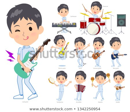 chiropractor men_pop music Stock photo © toyotoyo