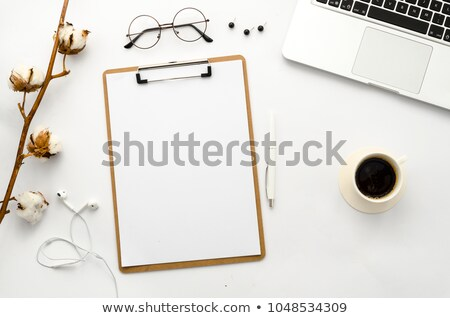 Home Office Workspace Mockup with Empty Clipboard. Stock photo © tashatuvango