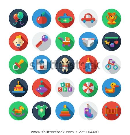 Kinderen sokken vector icon geïsoleerd witte Stockfoto © smoki